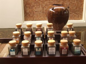 tea selection at Banyan Tree